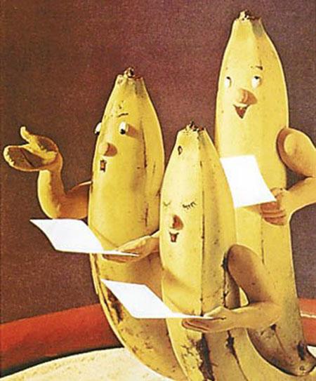 عکس های خنده دار از طرح های جالب بر روی پوست موز