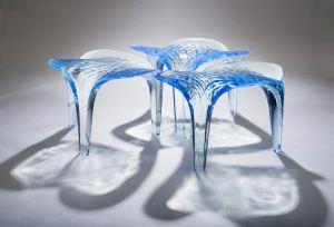 مبلمان و مجسمه های یخی + تصاویر