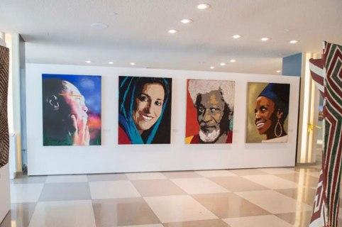 عکس پرتره فاطمه معتمدآریا در سازمان ملل