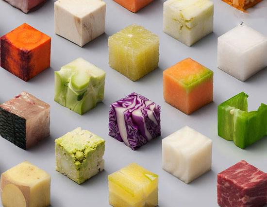 مکعب هایی که می توان خورد + عکس