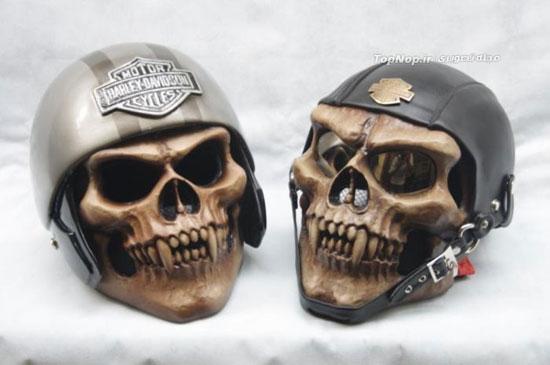 کلاه کاسکت های ترسناک (تصویری)