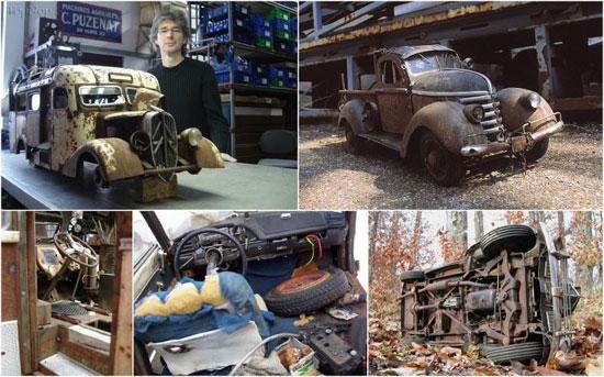 ساخت مدل های مینیاتوری از اتومبیل های آنتیک