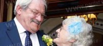 زوجی که پس از 42 سال نامزدی جشن عقد گرفتند
