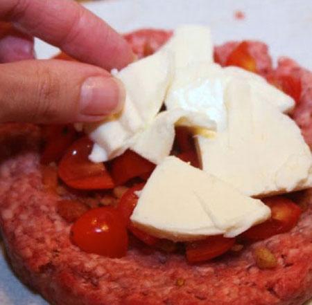 آموزش تهیه همبرگر شكم پُر (همبرگر دوبل)