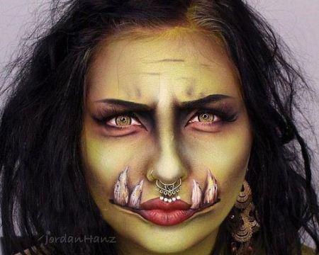 عکس های دیدنی از ترسناک ترین آرایش های صورت