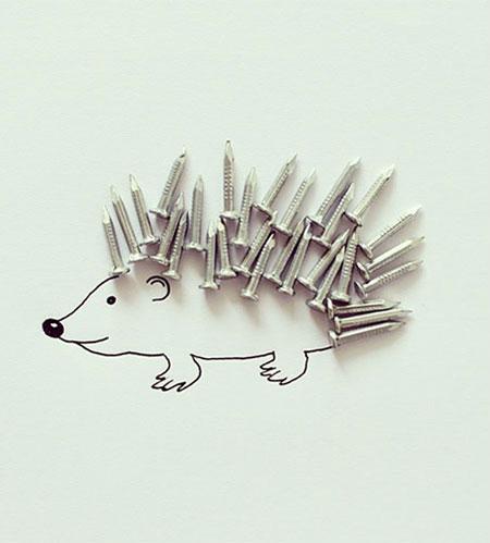 نقاشی های ترکیبی و طنز با اشیا (عکس طنز)