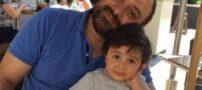عکس های جالب از برزو ارجمند، همسر و فرزندش