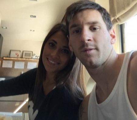 عکس های دیدنی از مسی، همسر و پسرش
