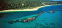 کشتی های به گل نشسته در سومین جزیره بزرگ دنیا