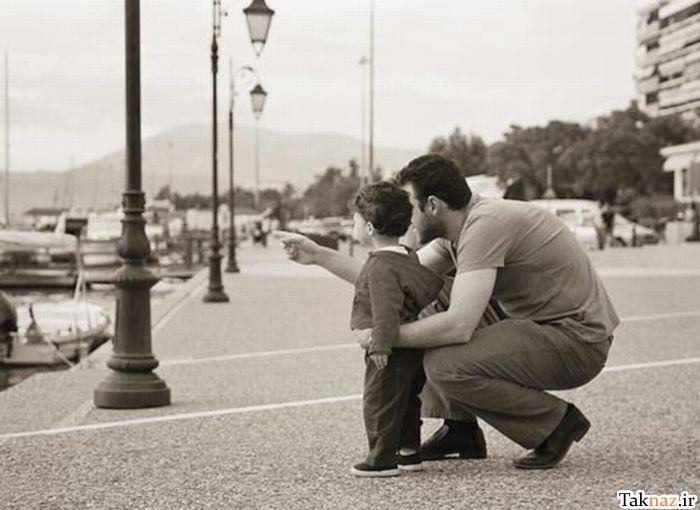 تصاویر عاطفی و زیبا از احساس پدر و فرزند