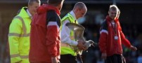 تصاویر ورود یک جیمی جامپ عجیب در مسابقه فوتبال
