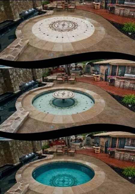 تصاویری دیدنی از استخرهای پنهان با قابلیت کنترل از راه دور