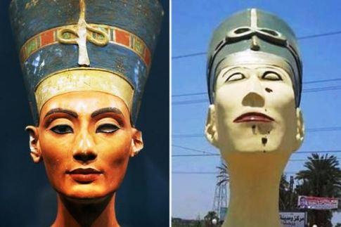 مجسمه ملکه را از این زشت تر هم می توان ساخت؟ (عکس)