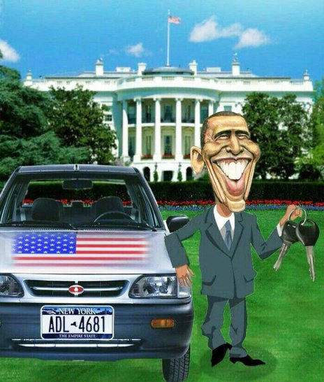 پراید سواری اوباما پس از توافق هسته ای