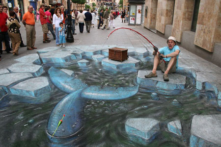 تصاویری از نقاشی های سهبعدی خياباني زیبا و دیدنی