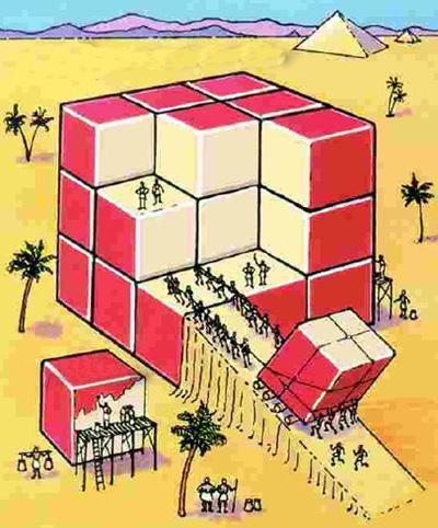 معمای جالب تعداد مکعب با دو وجه قرمز