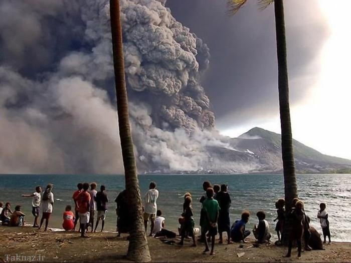 فوران آتشفشان و قدرت خداوند + تصاویر