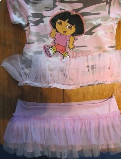 آموزش تصویری دوخت پیراهن با بلوز دخترانه
