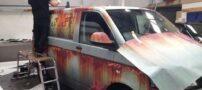 پوشش عجیب این خودرو پلیس را شوکه کرد ( +عکس)