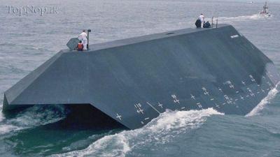 تصاویری زیبا از کشتی رادار گریز آمریکایی