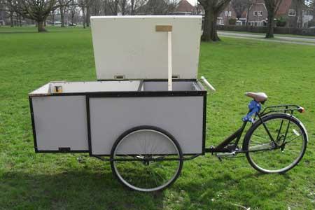 طراحی دوچرخه ای دارای خانه کوچک + تصاویر