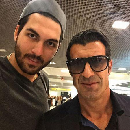 سلفی جذاب علیرضا حقیقی با ستاره فوتبال پرتغال