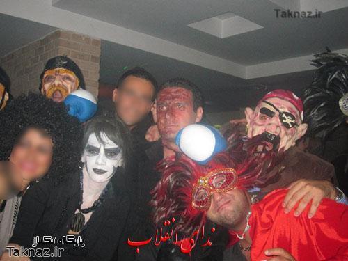 تصاویر تکان دهنده از جشن بالماسکه در تهران