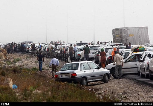 ترافیک سنگین جاده های شمال در روز عید فطر پارسال