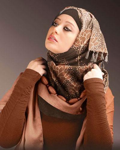 مدل های شیک بستن شال و روسری به سبک عربی