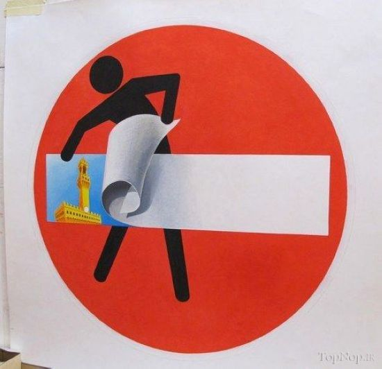 عکس های طنز از تابلوهای راهنمایی و رانندگی