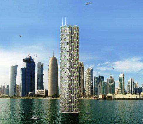 ساختمان عظیم و بلند در وسط دریا + عکس