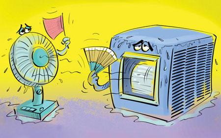 کاریکاتورهای زیبا ویژه تابستان و گرم شدن هوا
