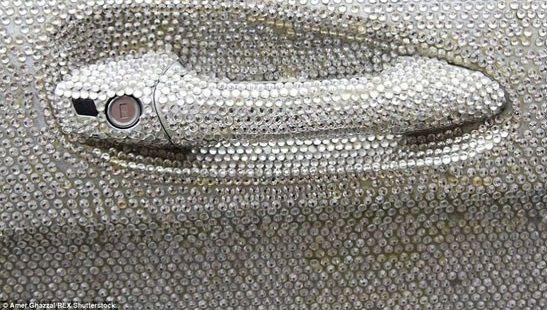 مرسدس بنز فوق العاده با روکش کریستال (عکس)