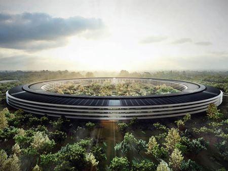 ساختمان شگفت انگیز اپل با طرح سفینه فضایی