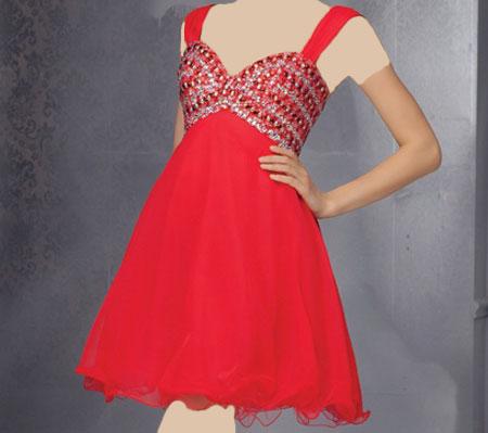 مدل لباس شب کوتاه 2015