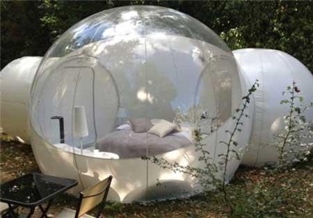 طراحی چادر مسافرتی سیار حبابی + تصاویر