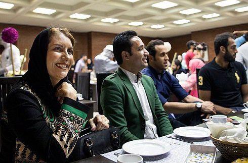 حضور علی کریمی در مراسم افطاری لیلا بلوکات + عکس