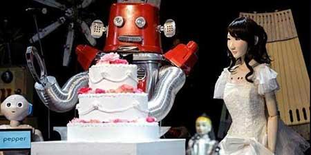 مراسم ازدواج ربات ها در ژاپن (عکس)