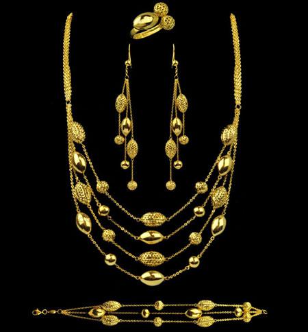 مدل های شیک و زیبای نیم ست طلای هندی