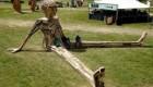 مجسمه های چوبی غول پیکر و خلاقانه