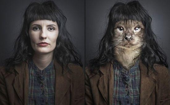 عکس جابجایی جالب چهره صورت با هنر فتوشاپ