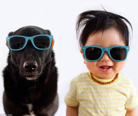 تصاویری از کودکان ناز در کنار حیوانات ناز