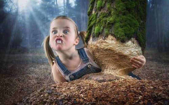 تصاویری خنده دار از دختر کوچولوهای ناز و بامزه