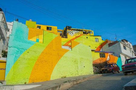عکس های جالب از شهر رنگین کمان در مکزیک