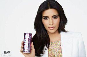 عکس های جذاب و متفاوت کیم کارداشیان در تبلیغات برند hype
