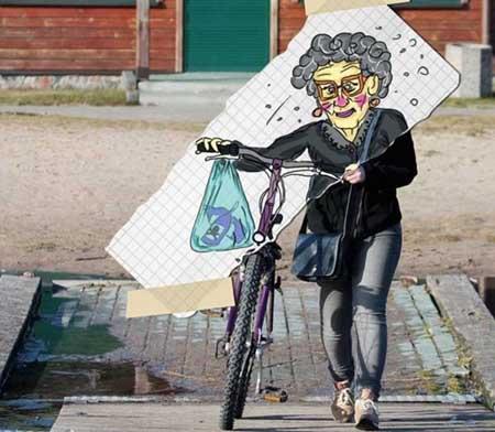 عکس نقاشی های خنده دار و بامزه در خیابان
