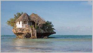 یک رستوران زیبا در میان آب های اقیانوس + تصاویر