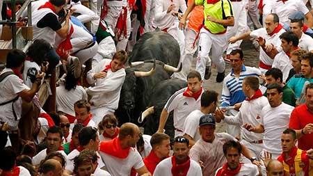 آغاز فستیوال گاو بازی در اسپانیا + تصاویر