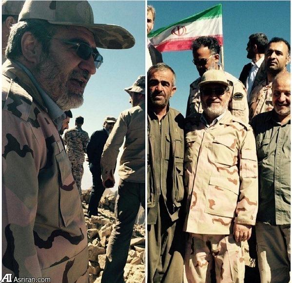 وزیر کشور لباس نظامی به تن کرد (عکس)
