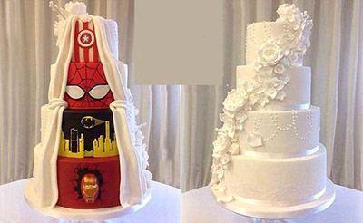 تفاهم بر سر کیک عروسی دو چهره + عکس